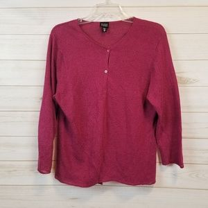 Eileen Fisher button front knit cardigan size XL